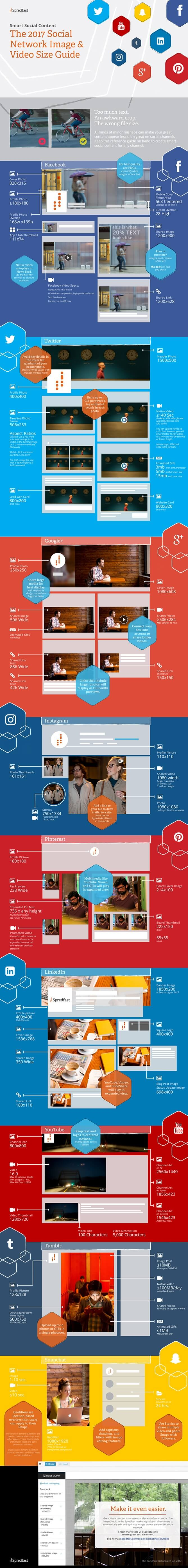 2017 Social Media Image Size Infographic